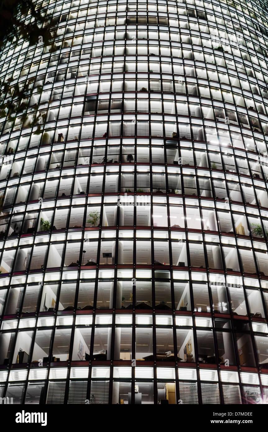 Moderne Architektur Berlin, Deutsche Bahn-zentrale, Hauptstadtkulturfonds Berlin Stockbild