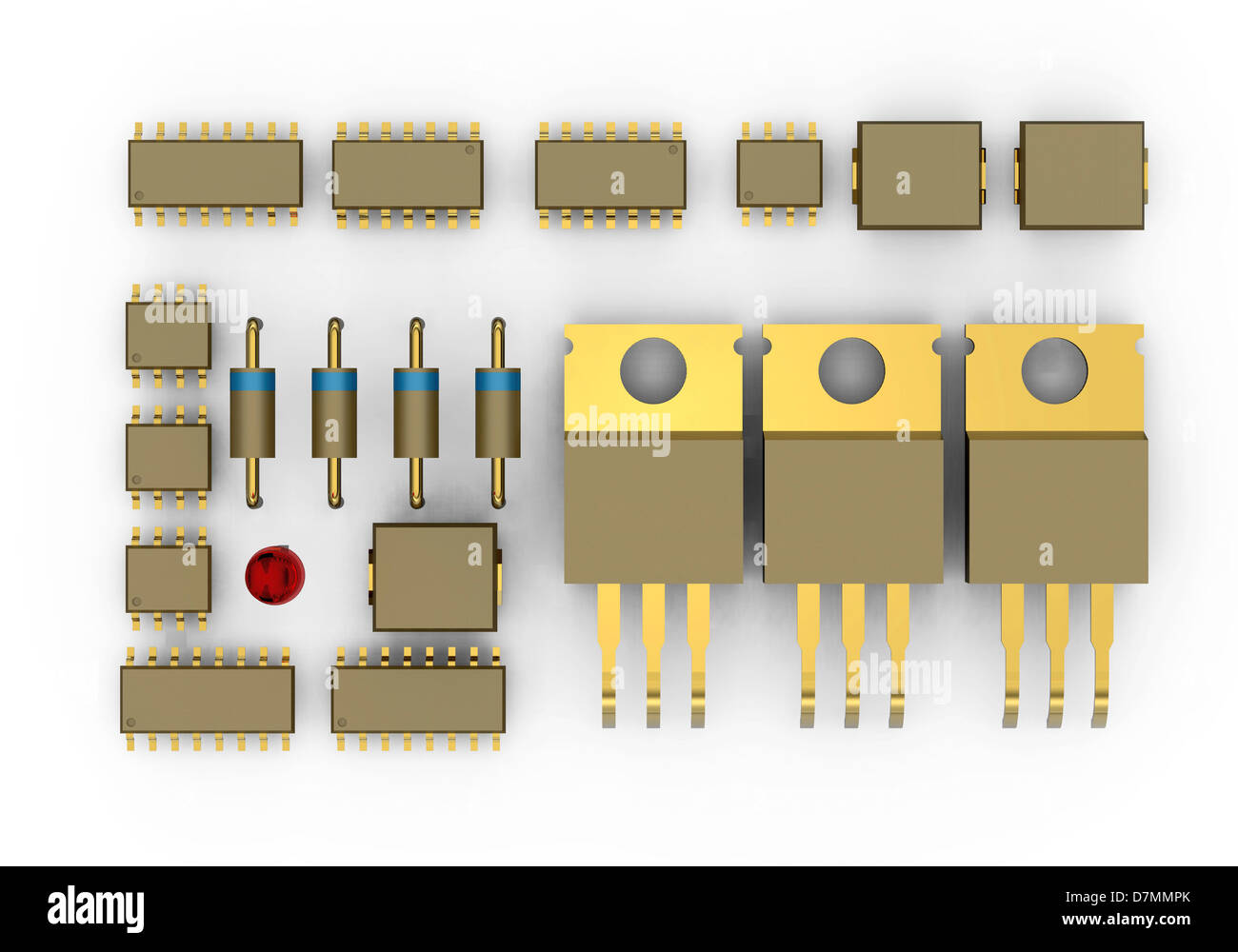 Circuit Board-Komponenten, artwork Stockbild
