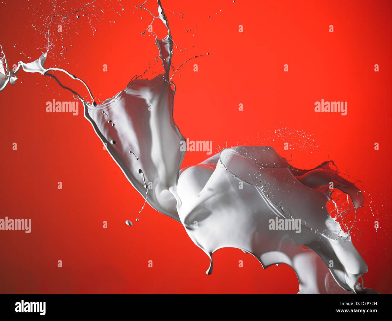 Spashes Wasser und Luftblasen Stockbild