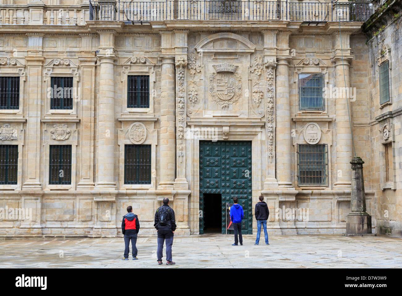Dom Eingang am Plaza Quintana, Santiago De Compostela, UNESCO World Heritage Site, Galicien, Spanien Stockbild