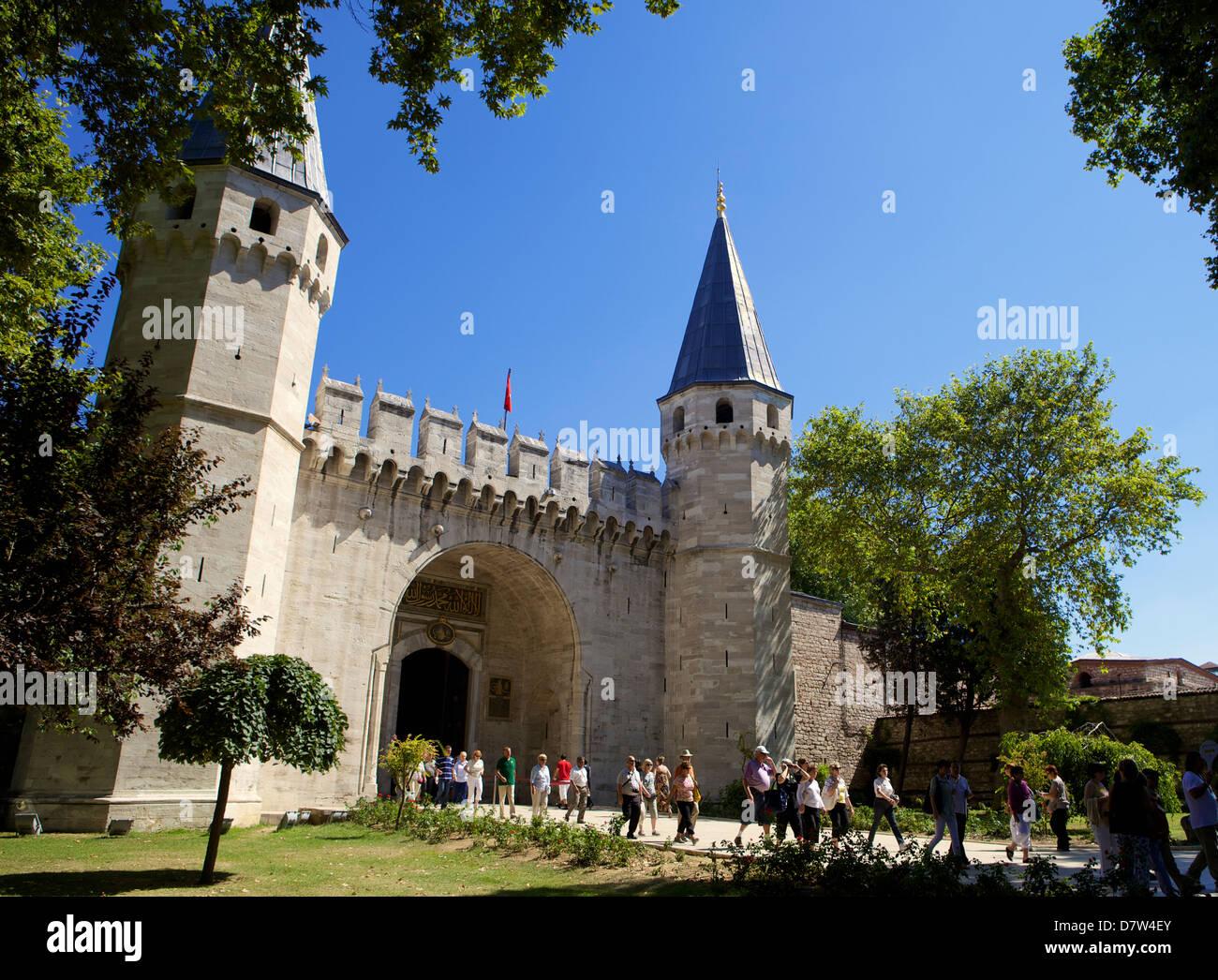 Der Eingang Sultane Topkapi Palast, Istanbul, Türkei Stockbild