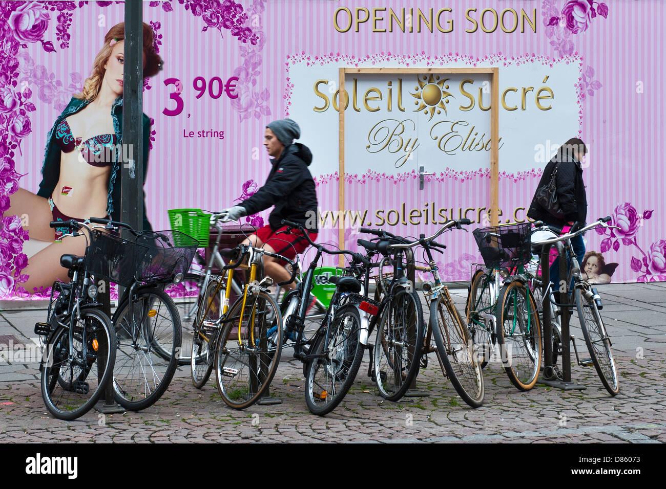 Frankreich-Elsass-Straßburg-Alltag Stockbild