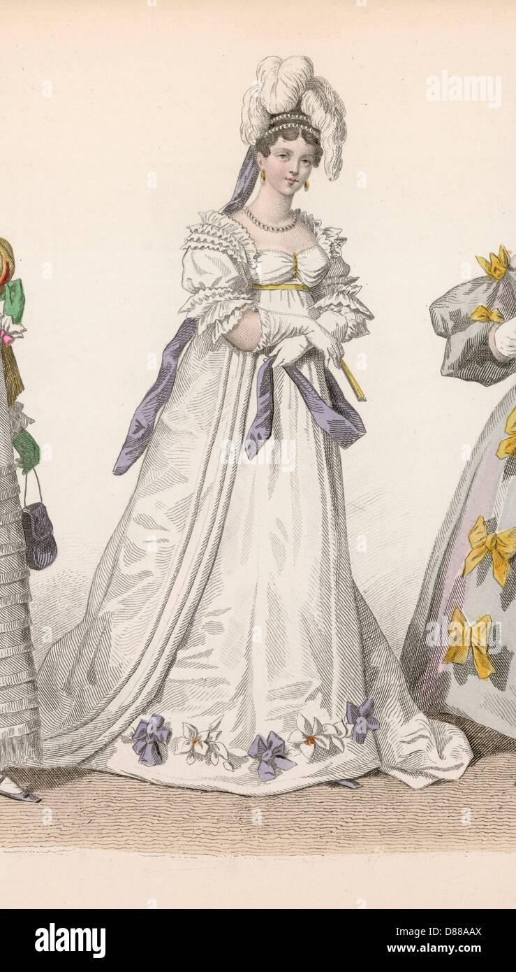 Geschichte der Mode 1815 Stockbild