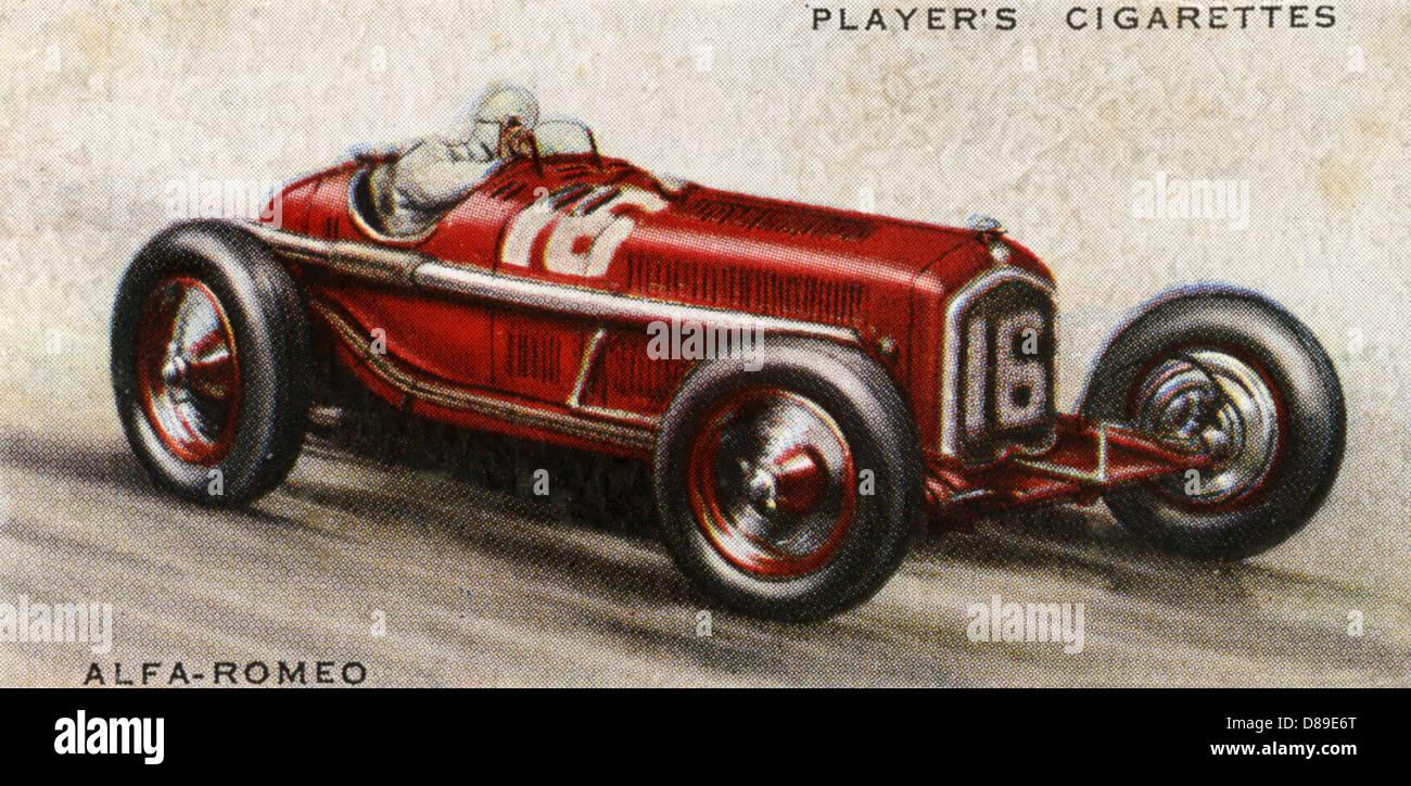 Alfa Romeo Rennwagen Stockbild