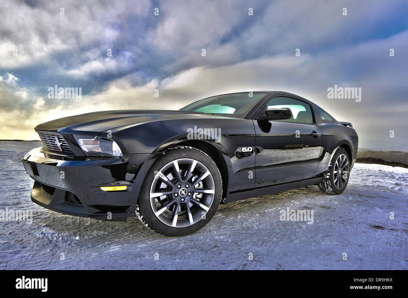 Ford Mustang Auto Auto Muskel-Auto Sportcoupé Stockbild