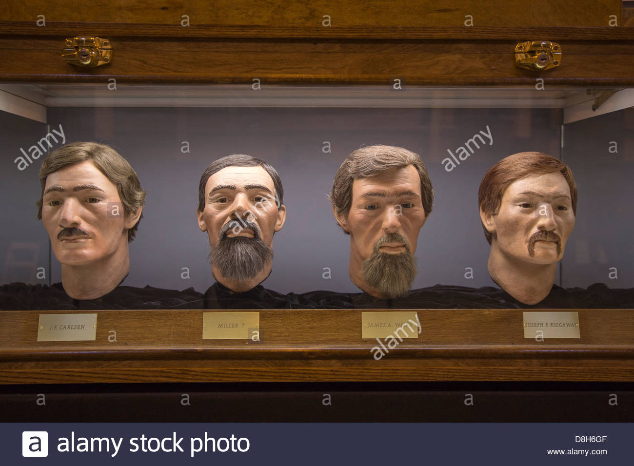Crew, Gesichts-Rekonstruktion, Hunley Museum, Charleston Schiffswerften, Charleston, South Carolina Stockbild