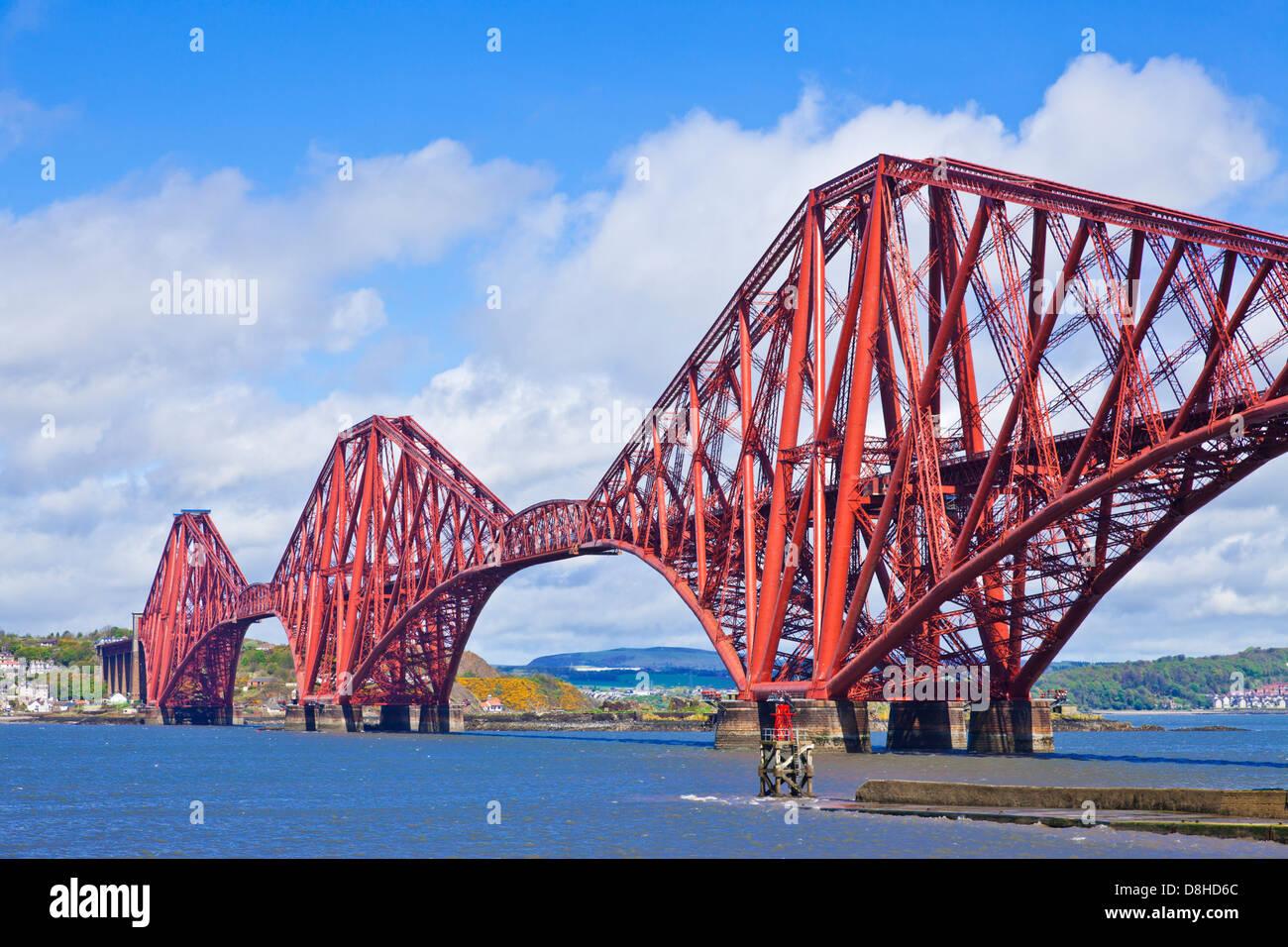 Die Forth Rail Bridge am South Queensferry in der Nähe von Edinburgh Lothian Schottland Großbritannien Stockbild