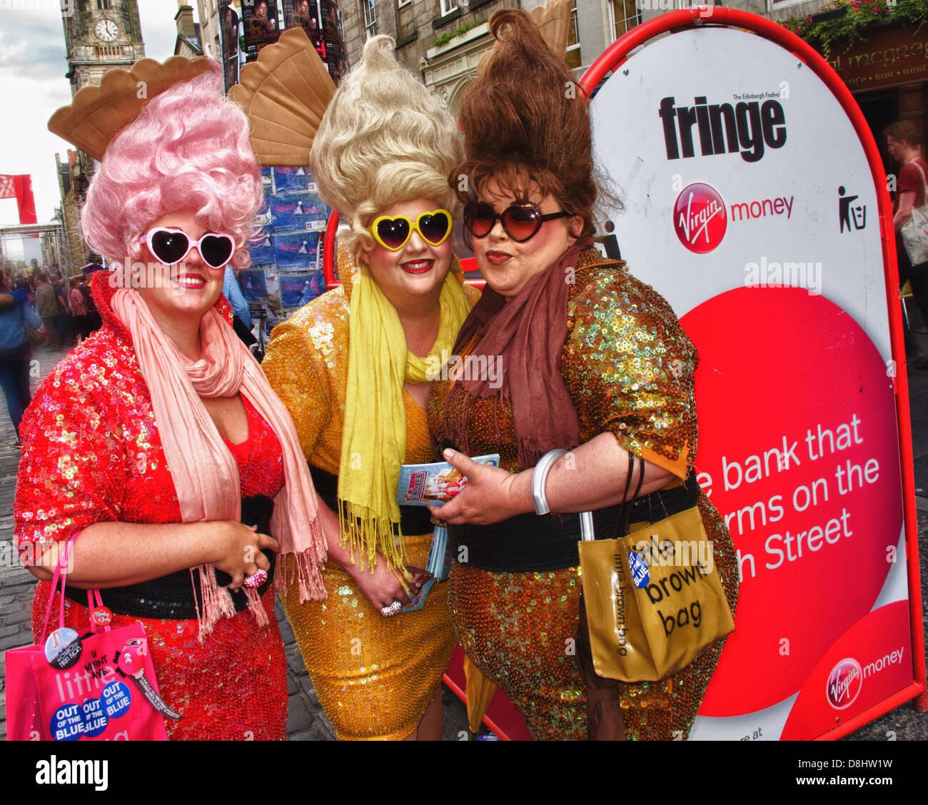Laden Sie dieses Alamy Stockfoto Edinburgh Festival Fringe handeln, Schottland, UK, EH1 1QS - D8HW1W