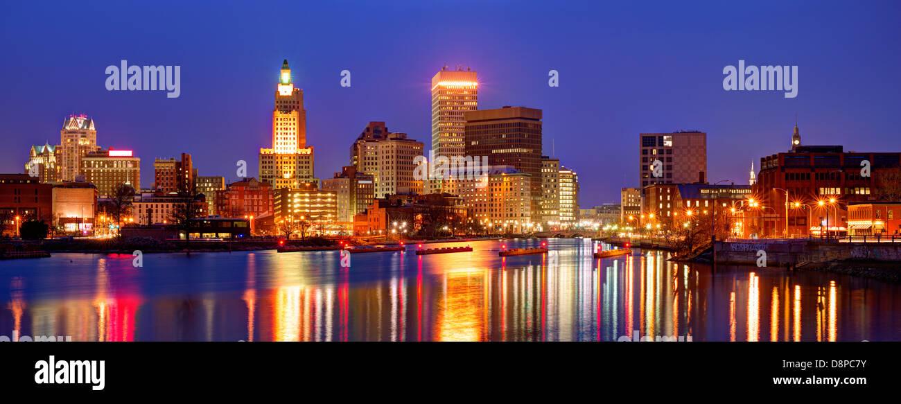 Providence, Rhode Island war eine der ersten Städte in den Vereinigten Staaten gegründet. Stockbild