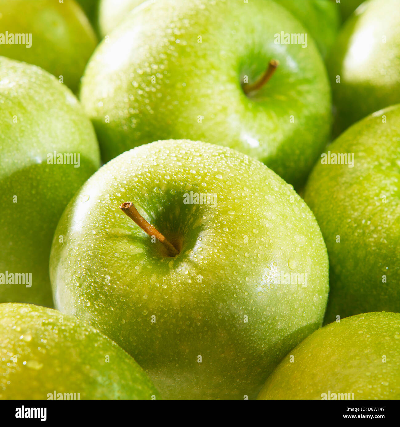 Granny Smith Äpfel Stockbild