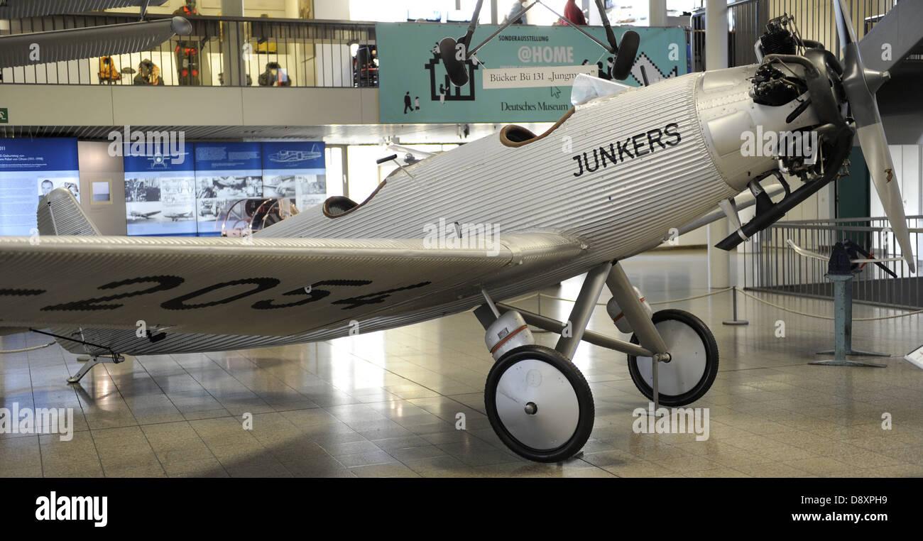 Junkers A50 war eine deutsche Sportflugzeug der 1930er Jahre, auch genannt der A50 Junior. A50ci D-2054 im Deutschen Stockbild