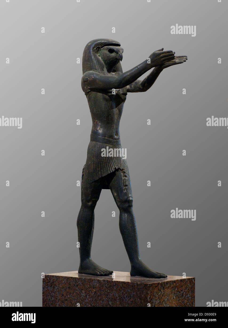 Statue des Gottes Horus 1069-664 v. Chr. alten Ägypten Louvre Museum in Paris Stockbild