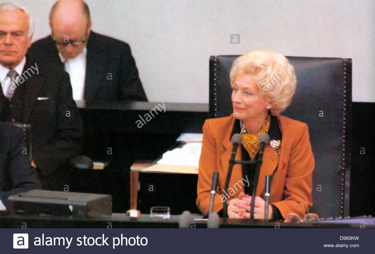 Annemarie Renger (7. Oktober 1919 ? 3. März 2008), Annemarie Wildung, geboren, deutsche Politikerin und die Stockbild