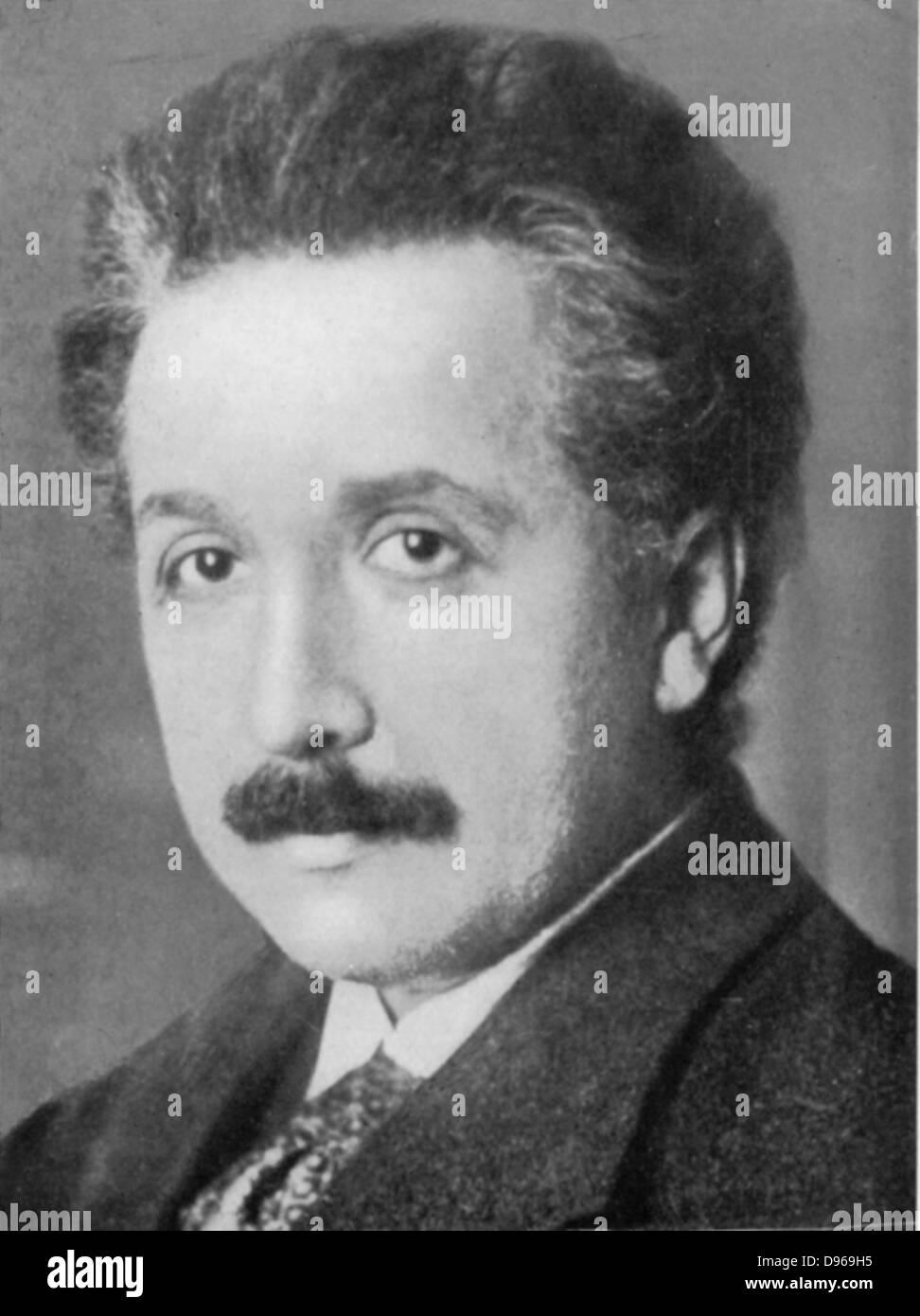 Albert Einstein (1879-1955) deutsch-schweizerischer Mathematiker: Relativitätstheorie. Einstein c1920 Stockbild