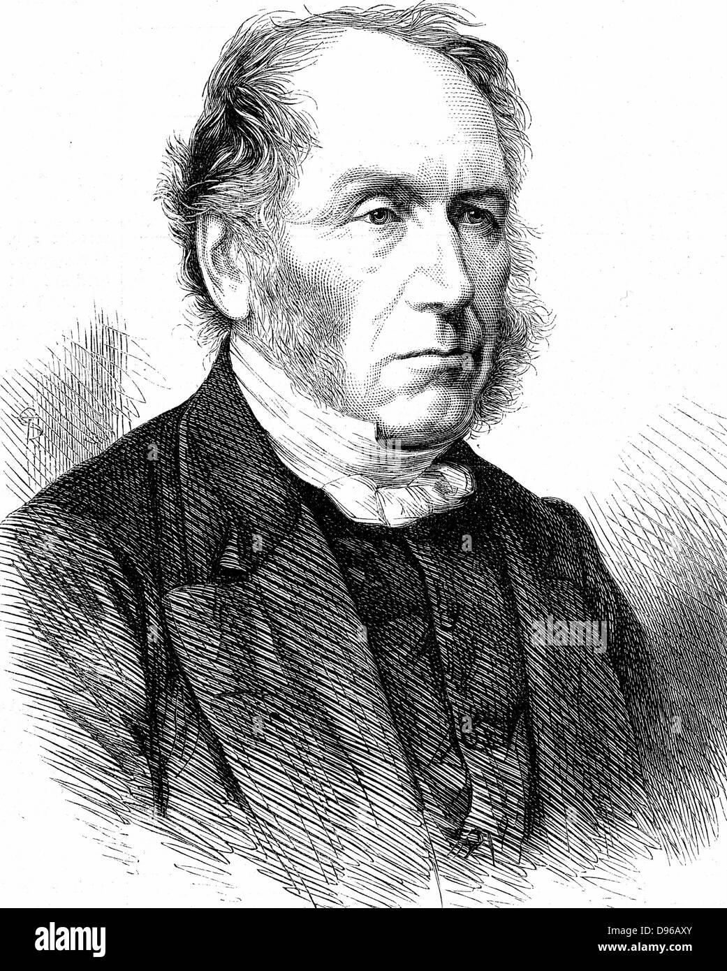 Patrick Bell (1799-1869) schottischer Geistlicher; Erfinder des mechanischen Reaper (c1827), die Cyrus McCormick Stockbild