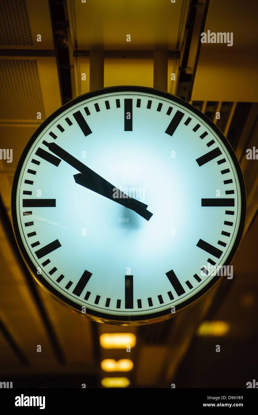 Stadt-Uhr Stockbild