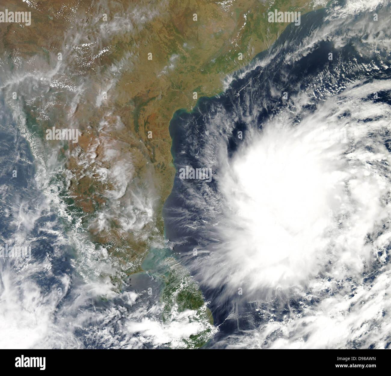 2008 erhalten Bodensystem: MODIS System Geoinformatik Zentrum für Informationsverarbeitung, tropischer Wirbelsturm Stockbild