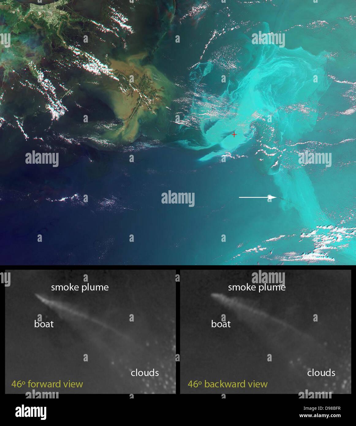 Diese einzigartige Bilder von der Deep-water Horizon-Ölpest im Golf von Mexiko wurden durch die Multi-Angle Stockbild