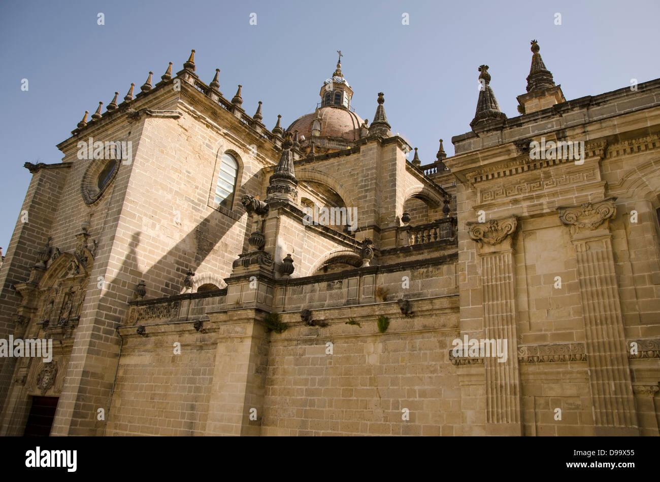 Die Kathedrale von San Salvador in Jerez De La Frontera in Andalusien, Südspanien. Stockbild
