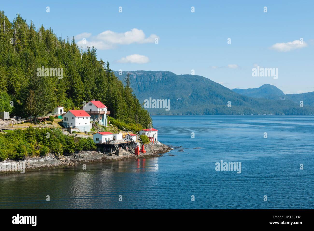 Boot Bluff Leuchtfeuer, Inside Passage, British Columbia, Kanada Stockbild
