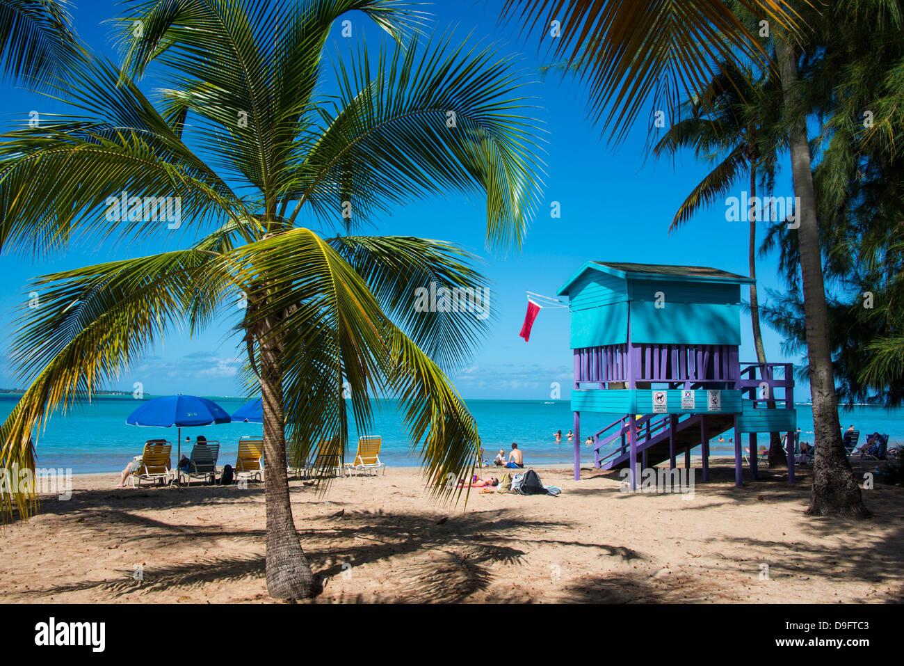 Luquillo Beach, Puerto Rico, Karibik, Caribbean Stockbild