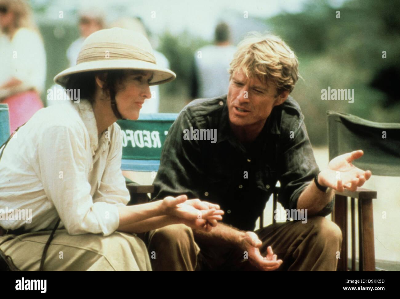 Robert Redford und Meryl Streep aus Afrika 1985 Stockbild