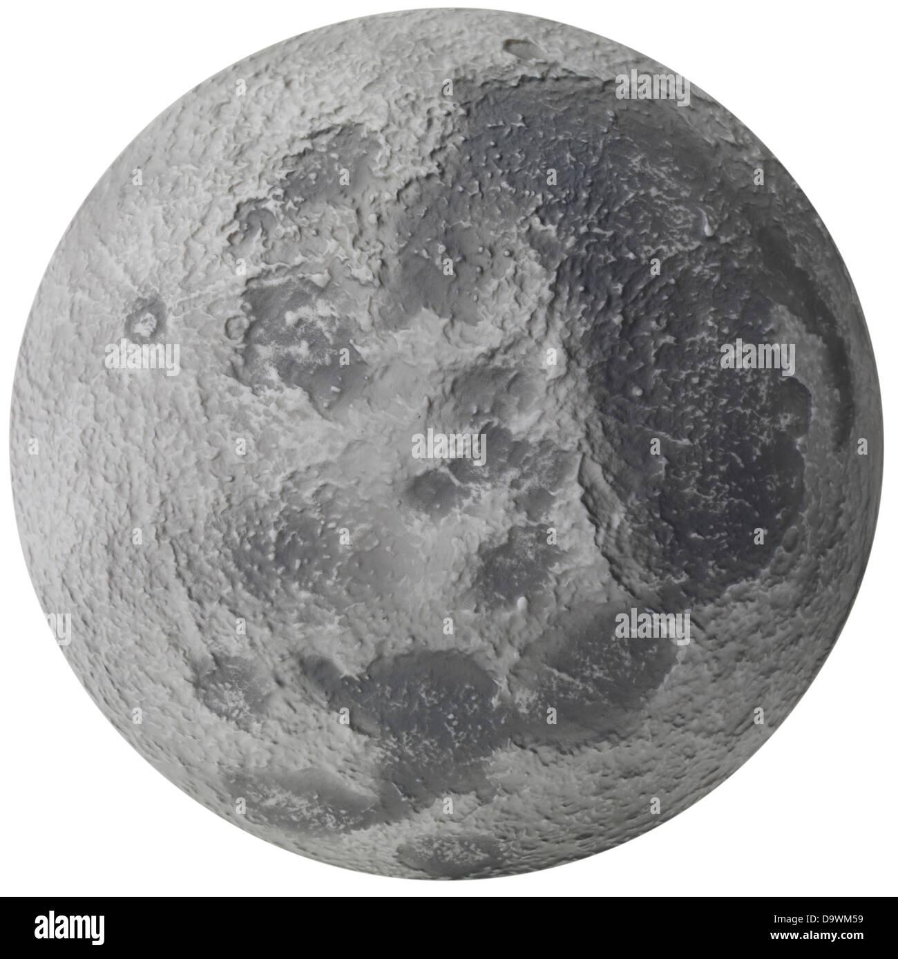 Oberfläche des Mondes Stockbild