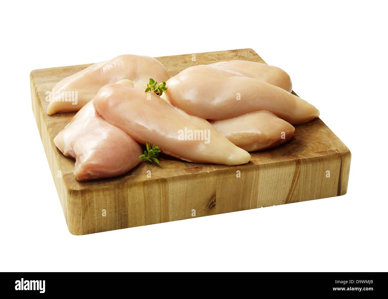 rohem Hühnerfleisch Stockbild