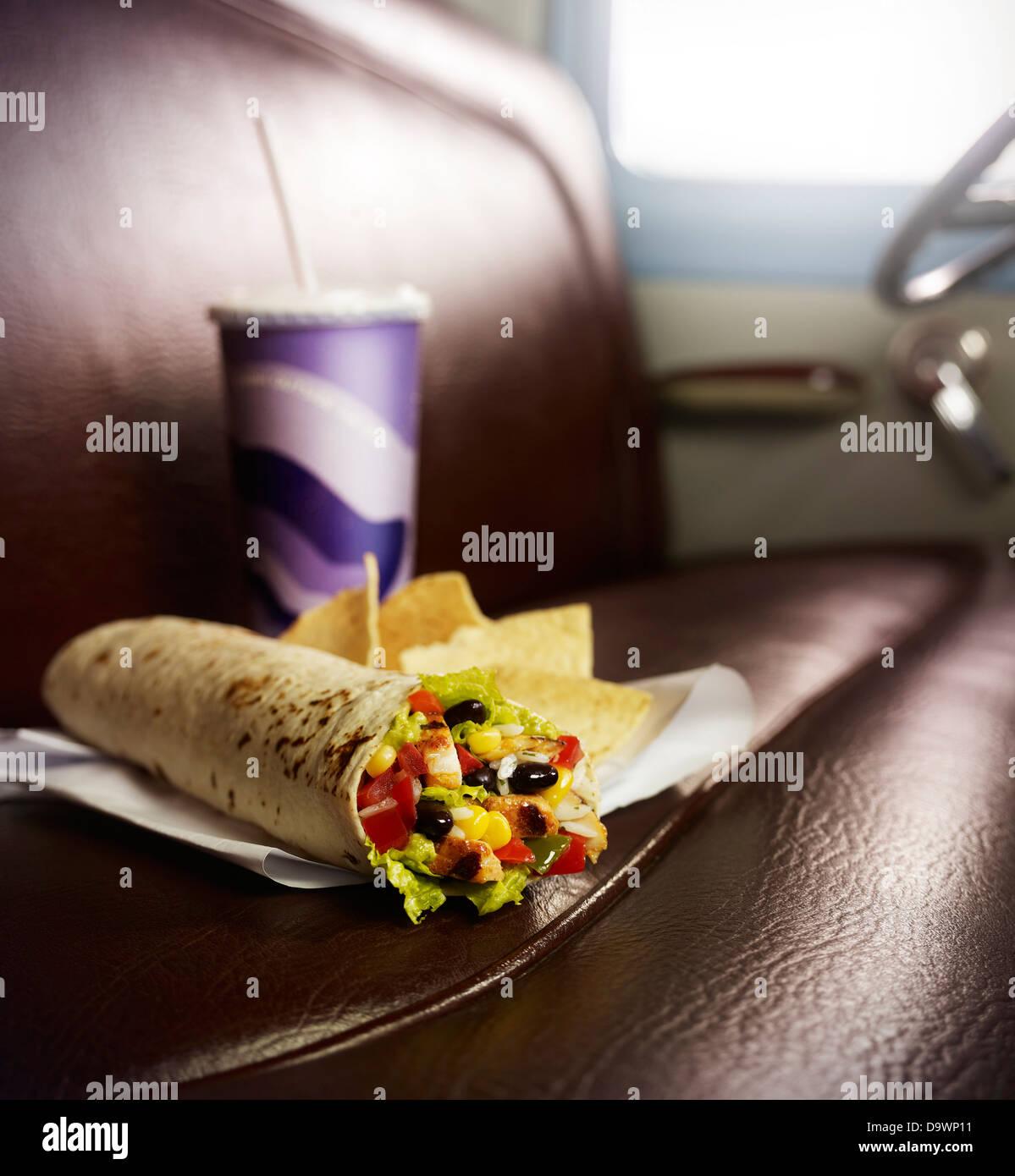 perfekte burrito Stockbild