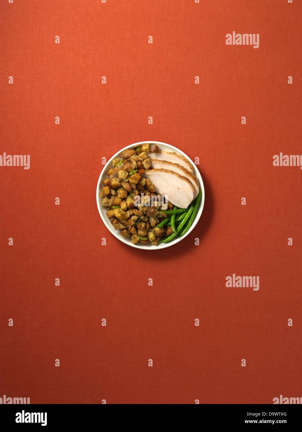 Speiseteller Stockbild