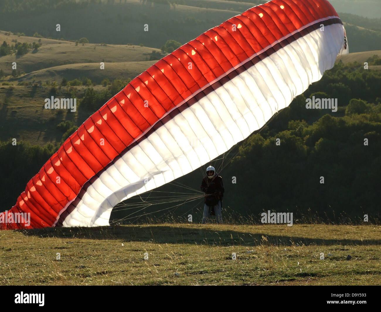 Fallschirm Paragliding extreme Sport Sport wind Stockbild