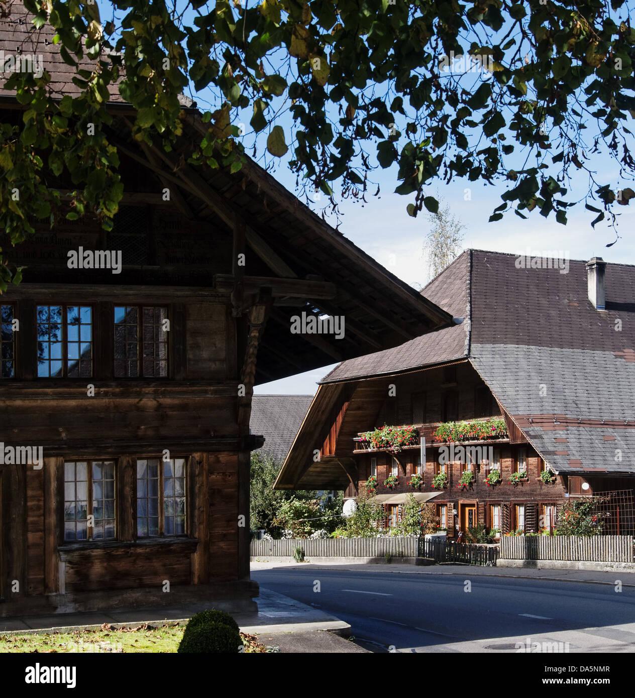 Bauernhaus bauernhof dach dorf emmental hof garten - Bauernhof garten ...