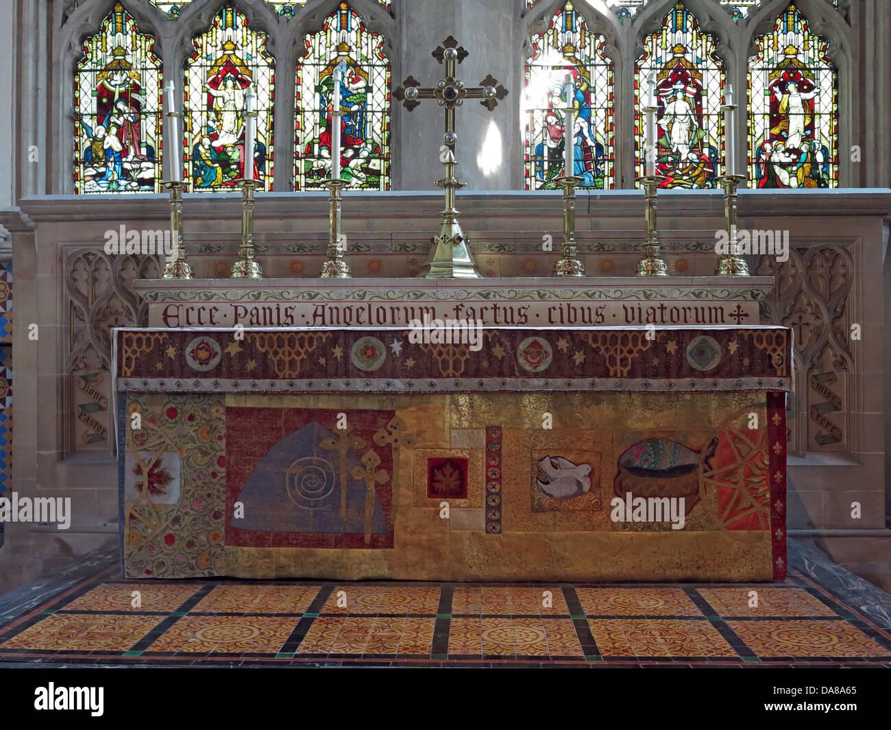 Laden Sie dieses Alamy Stockfoto Altar Kunst detail von Lady Kapelle des hl. Petrus und der hl. Paulus, der Pfarrkirche, Dorchester auf Themse, England, Großbritannien - DA8A65