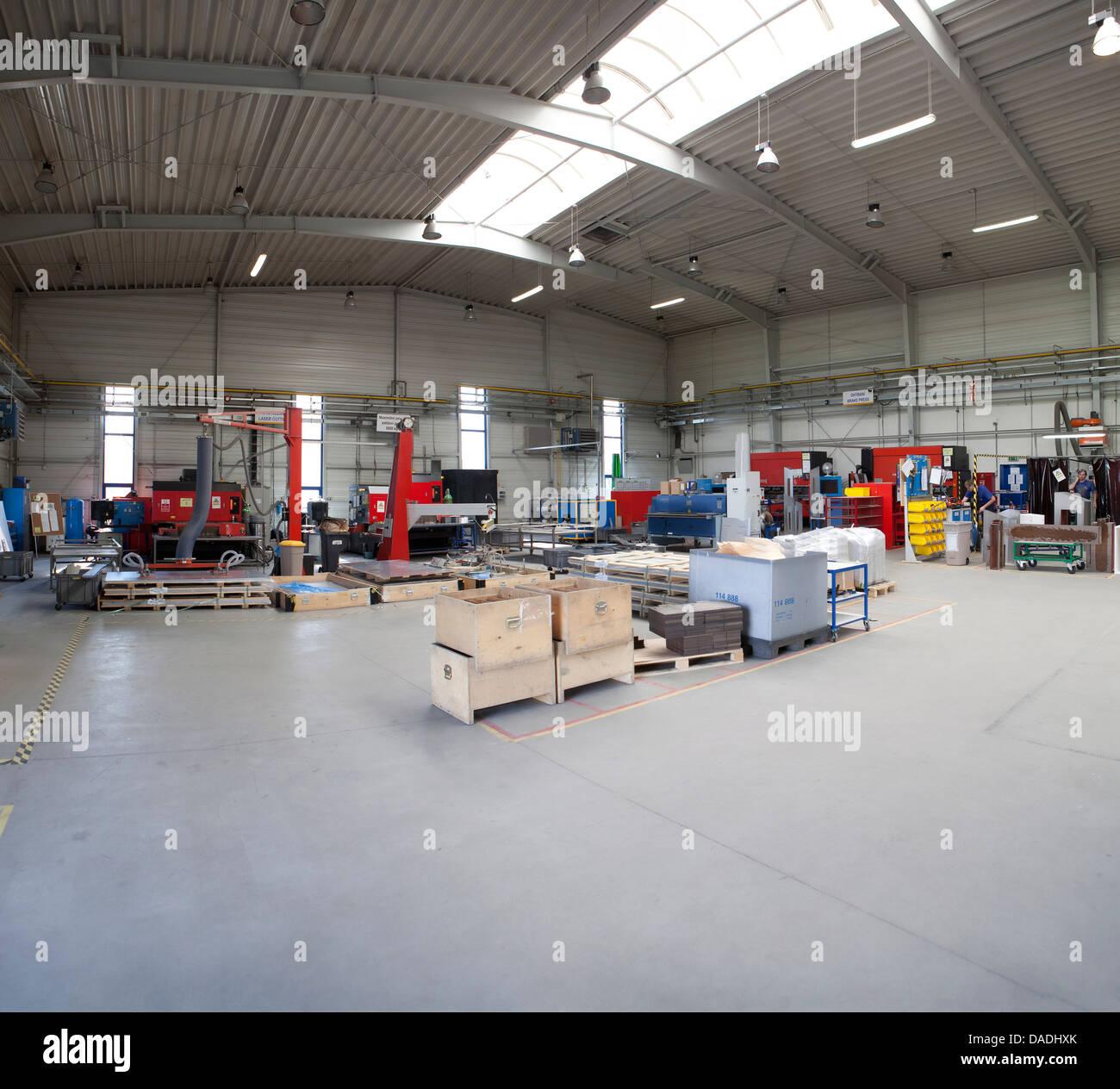 moderne Herstellung Fabrik Stockbild