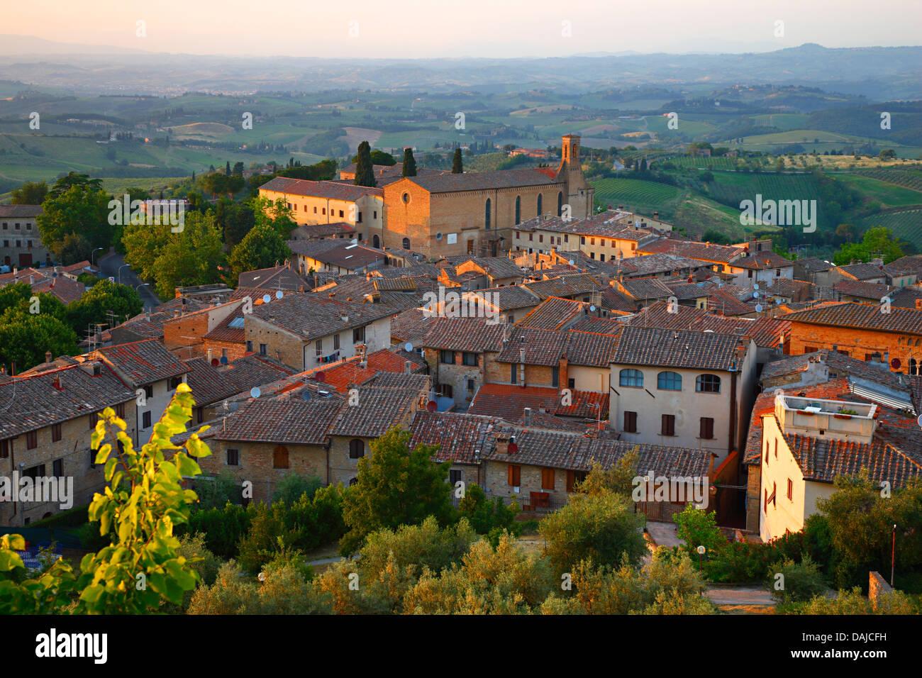 San Gimignano, Sant'Agostino Kirche, Italien Stockbild
