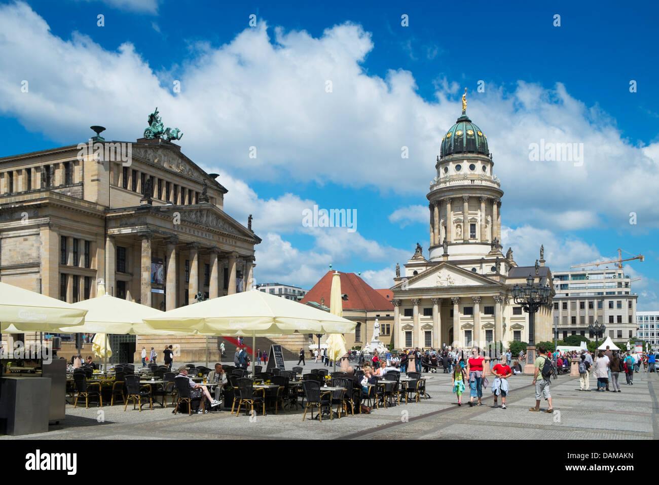 Blick auf den historischen Gendarmenmarkt Square in Mitte Berlin Deutschland Stockbild
