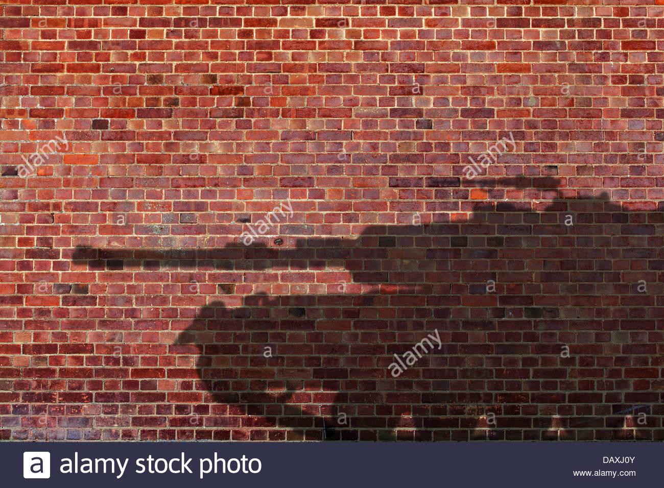 Tank-Schatten Stockbild