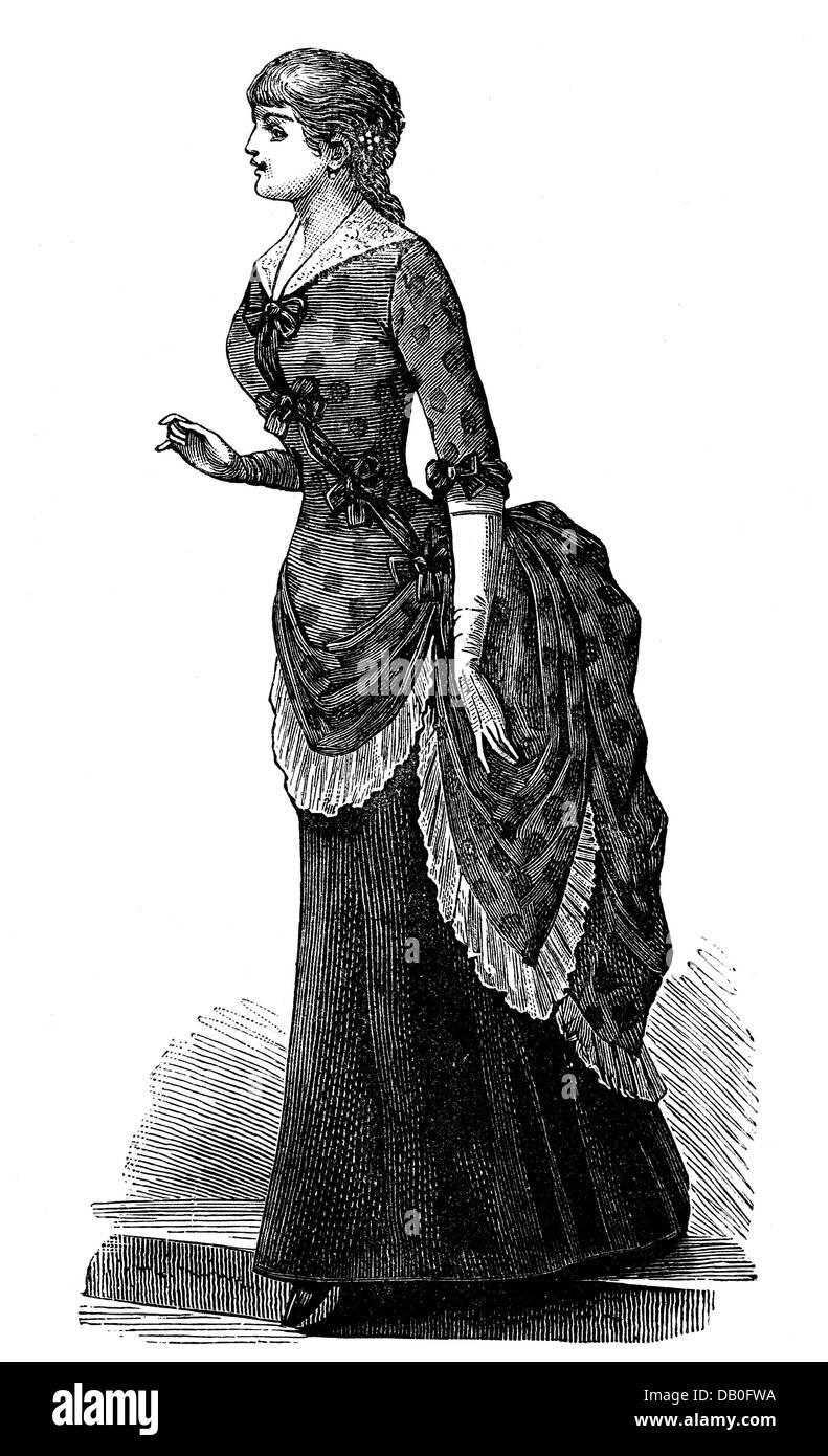 Fashion 19th century engraving germany stockfotos for Mobel 19 jahrhundert