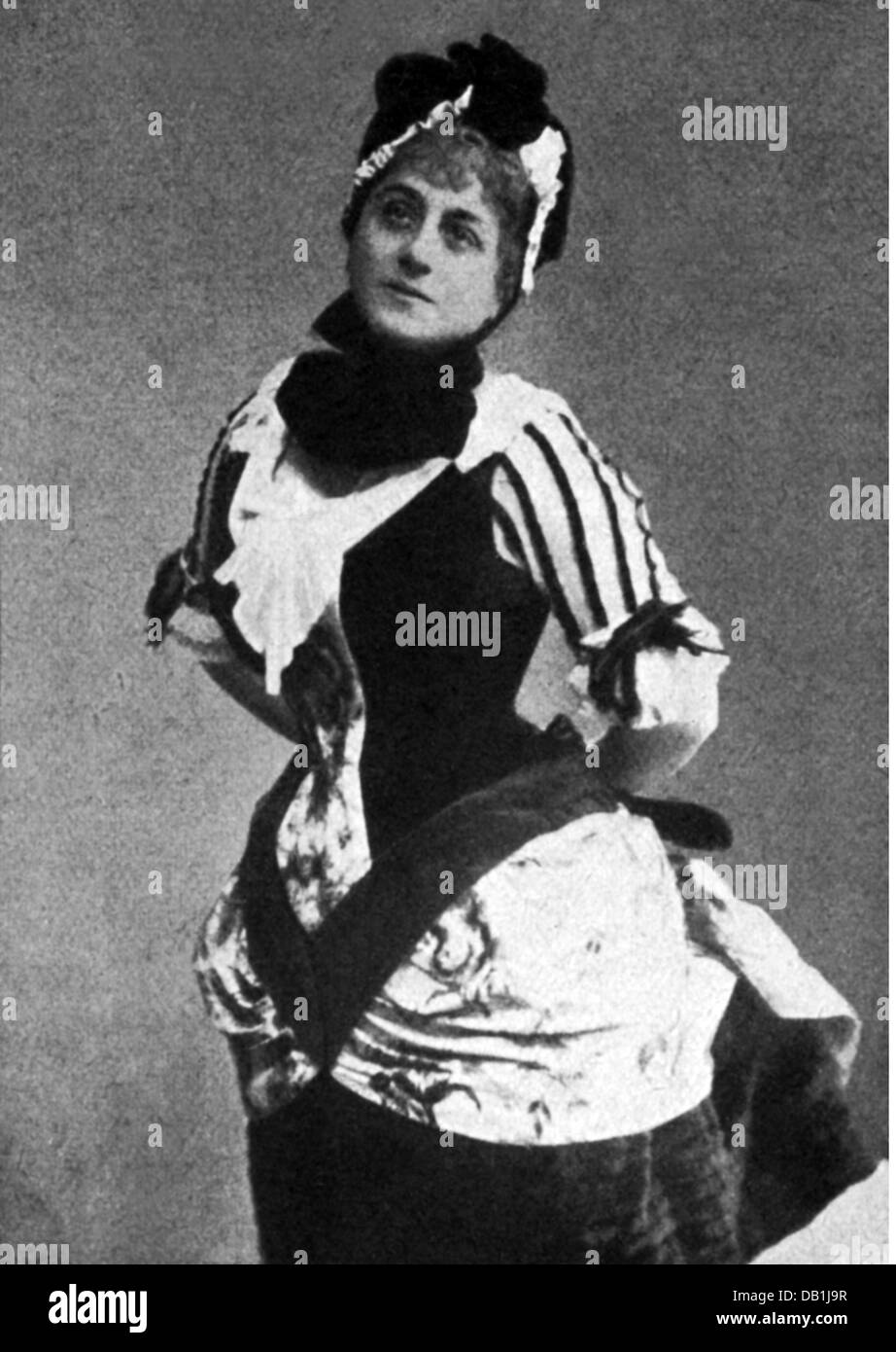 "Stubel, Ludmilla ""Milli"", 11.9.1852 - nach 12.7.1890, österreichische Tänzerin, halbe Länge, Stockbild"