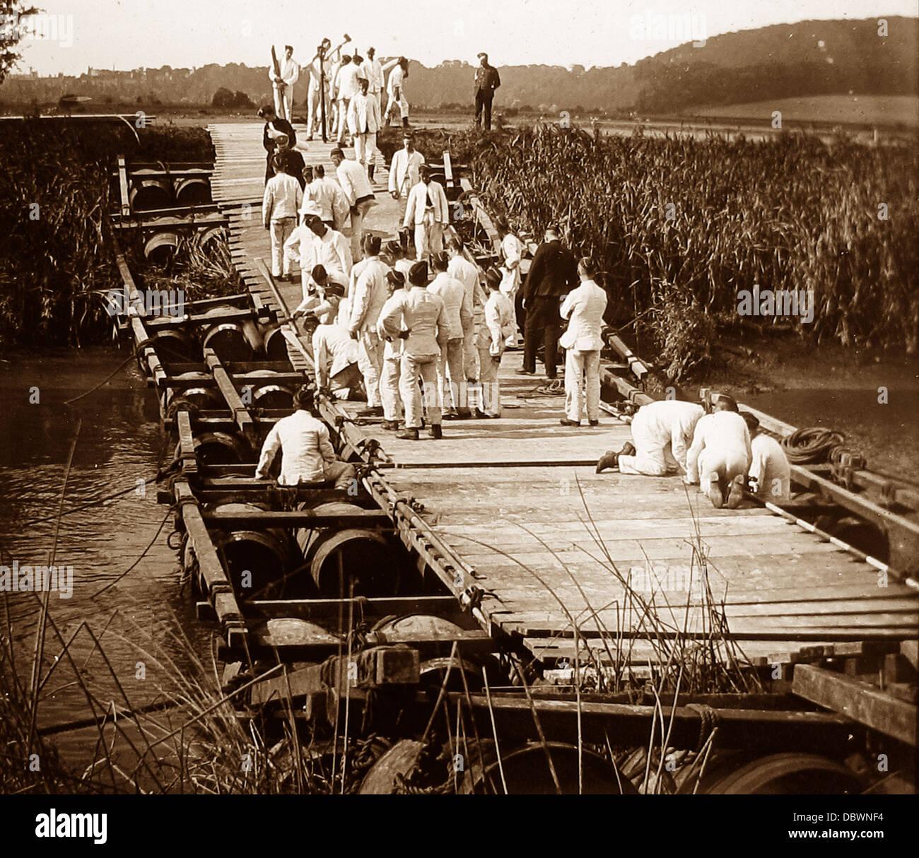 1. Sussex Regiment Royal Engineers während WW1 Stockbild