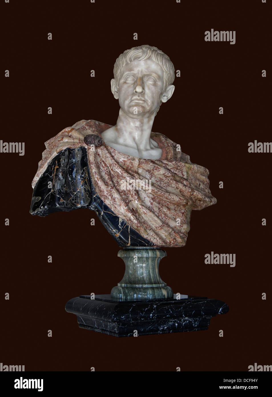 Marcus Ulpius Nerva Traianus. Römischen Kaiser Trajan (53-117). Florentiner Büste. Stockbild