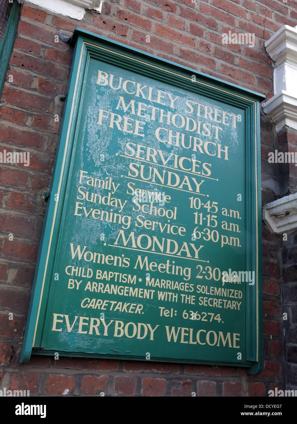 Dieses Stockfoto: Buckley St methodistischen Freikirche, Warrington, Cheshire, England, UK WA2 7NS - DCYEG7