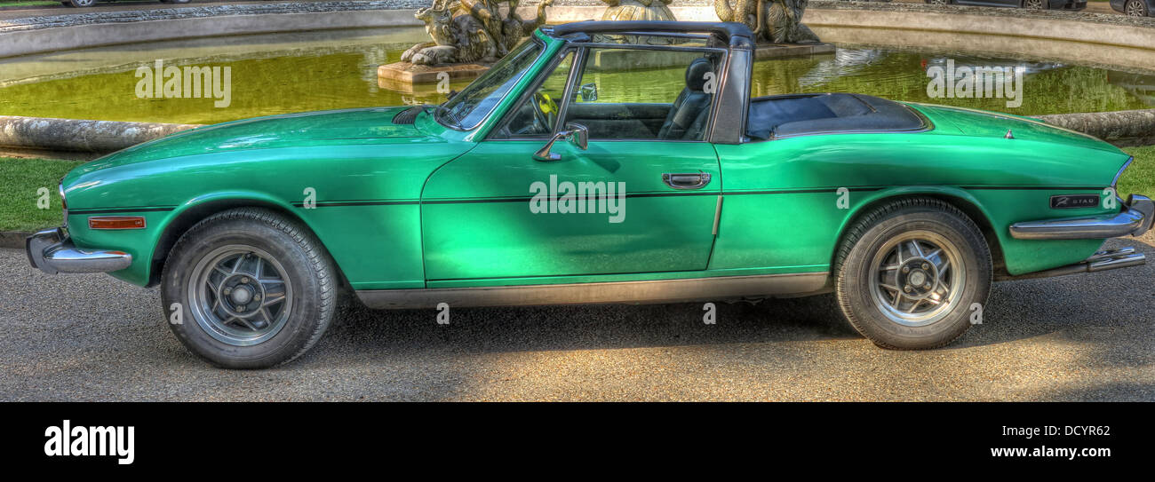 Laden Sie dieses Alamy Stockfoto Grüne Stag, 2+2 Sports Tourer, British Triumph Motor Company, gestaltet vom italienischen Designer Giovanni Michelotti - DCYR62