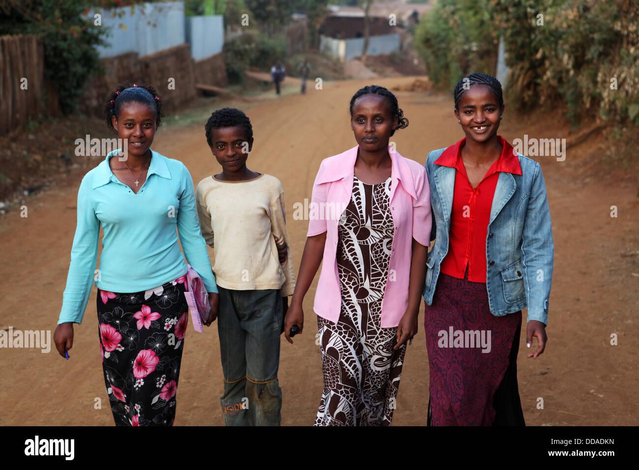 Alltag in Amboa, Westäthiopien. Stockbild