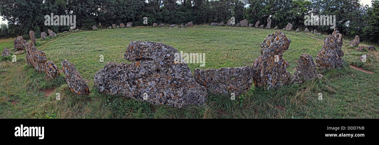 Laden Sie dieses Alamy Stockfoto Roll Steine/Rollright Stones, Jungsteinzeit Denkmal, Long Compton, Warwickshire/Tolle Rollright, Chipping Norton OX7 5QB - DDD7NB