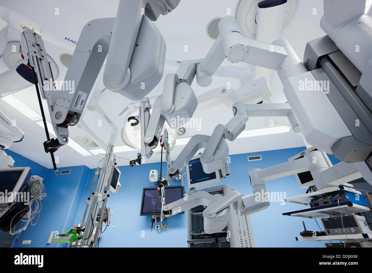 OP-Saal, Prostata-Krebs-Roboter-Chirurgie, chirurgische ...