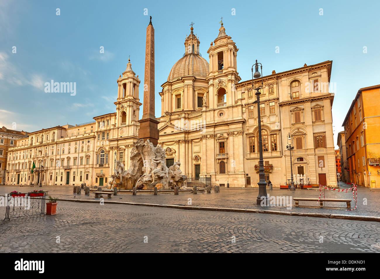 Piazza Navona in Rom Stockbild