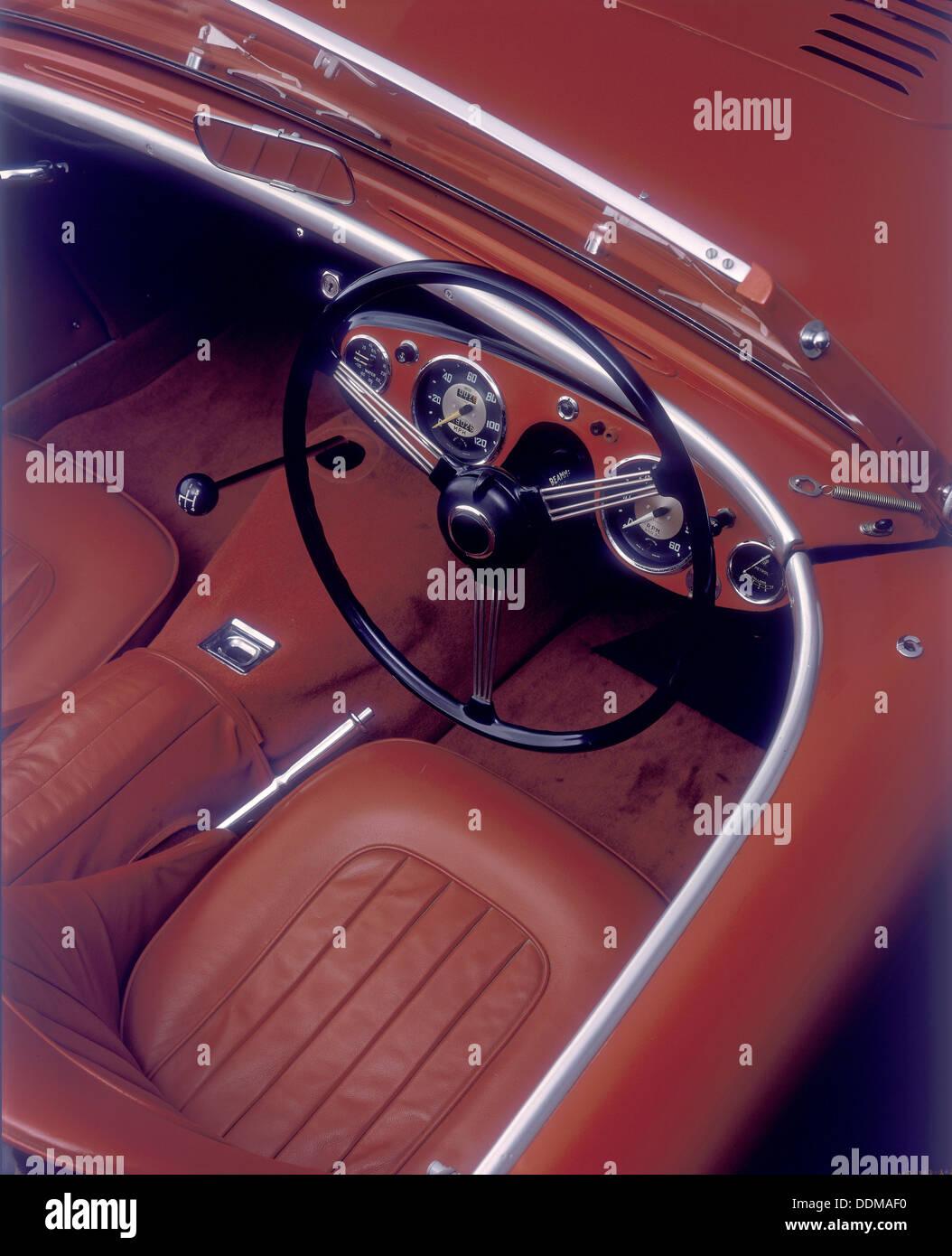 1956 Austin Healey 100-BN2. Stockbild