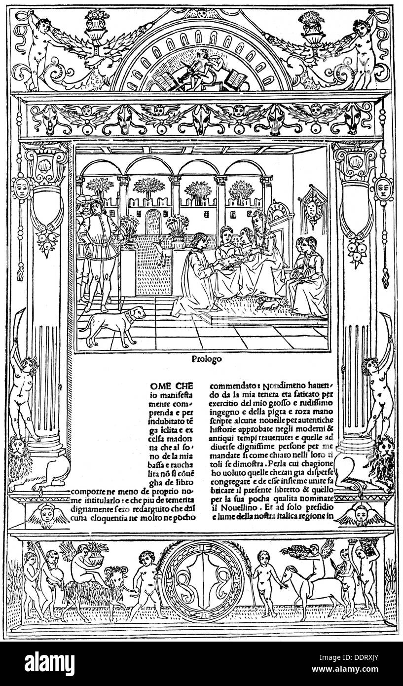 "Masuccio Salernitano ca. 1410 - nach 1475 Italienisch Autor / Schriftsteller ""Il Novellino"" (Short Stories) Stockbild"