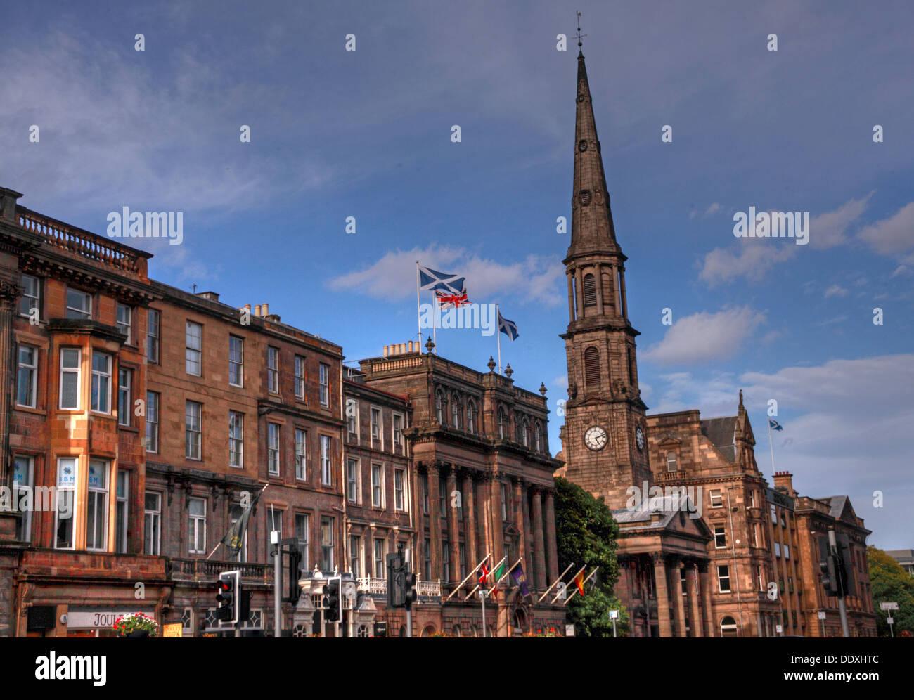 Laden Sie dieses Alamy Stockfoto Die George Street, Edinburgh, Schottland, Großbritannien, - DDXHTC
